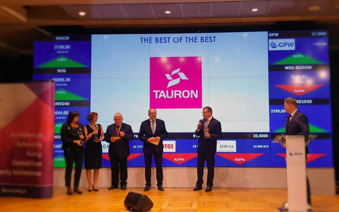 """TAURON z nagrodą """"The Best Annual Report"""""""