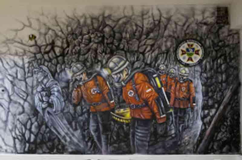 Mural znanego artysty dla ratowników górniczych